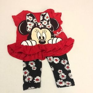Disney Minnie Mouse Top and Legging Set Size 12M